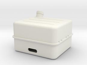Tank Unimog 1:10 in White Natural Versatile Plastic