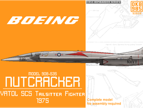 "Boeing Model 908-535 ""Nutcracker"" VATOL Fighter in Black Natural Versatile Plastic"