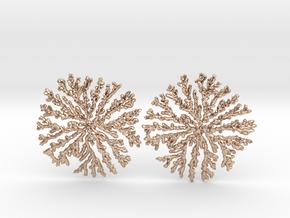 SNOWFLAKE Brass Silver Earrings in 14k Rose Gold Plated Brass