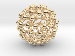 Buckyball (minimum size 0.8mm) in 14k Gold Plated Brass
