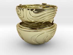 """Coral Snitch"" Ring Box (NEW MODEL) in 18k Gold Plated Brass"