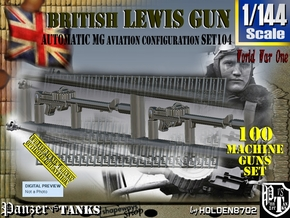 1/144 Lewis Auto Machine Gun Aviation Set104 in Smoothest Fine Detail Plastic
