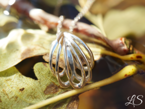 Tiara Pendant in Polished Silver