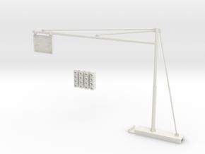 Traffic light for slot car track in White Natural Versatile Plastic: 1:32