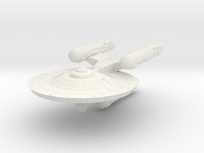 3788 Scale Federation War Destroyer WEM in White Natural Versatile Plastic