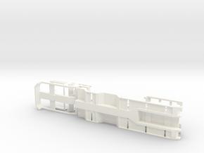 1/87 4-axles Trailer Ver.2 in White Processed Versatile Plastic