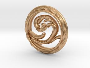 Big Wave Pendant. in Natural Bronze