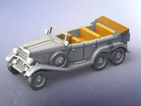 German Mercedes G4 Staffcar 1/120 TT in Smooth Fine Detail Plastic