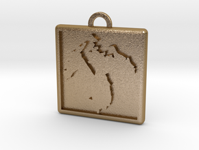 D8_mod_V4 in Polished Gold Steel