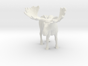 S Scale Moose in White Natural Versatile Plastic