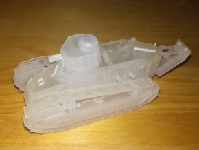 1/87th scale Renault Ft-17 Char Canon (omnibus) in Smooth Fine Detail Plastic
