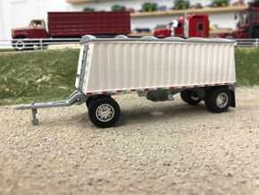 1/64th scale 22' pup Grain trailer body in White Natural Versatile Plastic