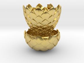 Dragon Egg Game of Thrones Style - Ring Box in Polished Brass