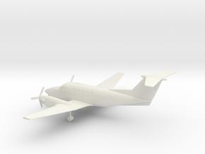 Beechcraft Super King Air 200 in White Natural Versatile Plastic: 1:100