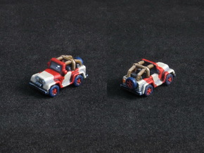 Miniature Jeep 20mm (1 - 4 pcs) in White Processed Versatile Plastic: Medium
