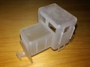 1/87th (H0e) scale B-26 narrow gauge diesel engine in Smooth Fine Detail Plastic