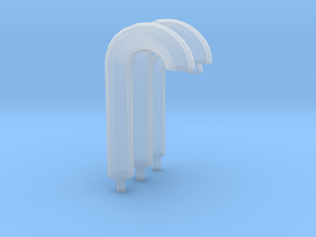 3 gooseneck vents in Smooth Fine Detail Plastic