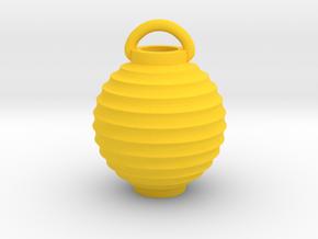 Paper Lantern Pendant, round in Yellow Processed Versatile Plastic