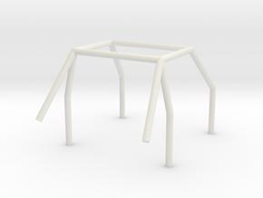 Roll Cage v1 in White Natural Versatile Plastic