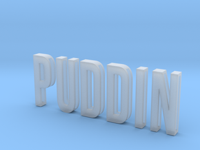 Sliding Letters - PUDDIN Bundle in Smooth Fine Detail Plastic