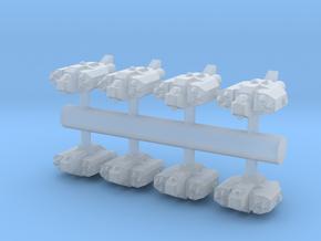 8 Human Alliance Gunships in Smooth Fine Detail Plastic