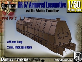 1-50 BR 57 Armored Locomotive For BP-42 in White Strong & Flexible