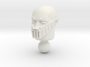 Galactic Defender Baron Karza Unmasked Head in White Natural Versatile Plastic