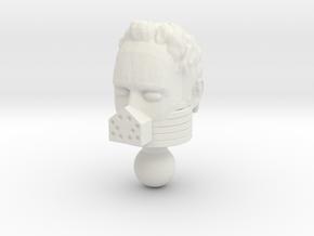 Galactic Defender Force Commander Unmasked Head in White Natural Versatile Plastic