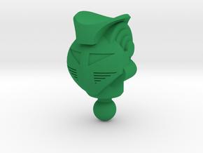 King Atlas Green Baron Head for Time Traveler in Green Processed Versatile Plastic