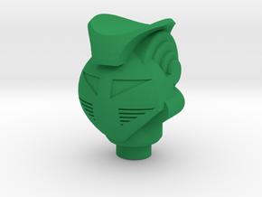 Green Baron King Atlas Head for New Micoman in Green Processed Versatile Plastic