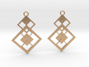 Geometrical earrings no.7 in Natural Bronze: Small