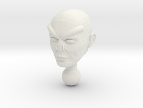 Shaitan Unmasked Head for Time Traveler in White Natural Versatile Plastic