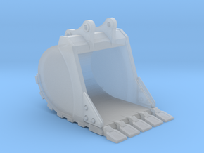 "1:50 48"" Bucket +Spade teeth for 20T excavators in Smooth Fine Detail Plastic"