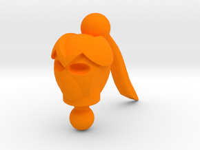 Lady Command Cicilia Head in Orange Processed Versatile Plastic