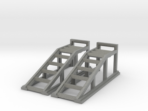 RC Garage 4WD Truck Car Ramps 1:35 Scale in Gray Professional Plastic