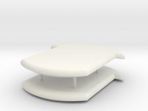 Deckel V3 in White Natural Versatile Plastic
