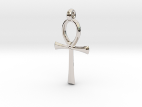 Ankh with hook in Platinum