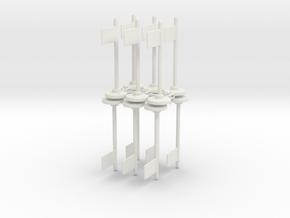 Flag Poll x12 in White Natural Versatile Plastic