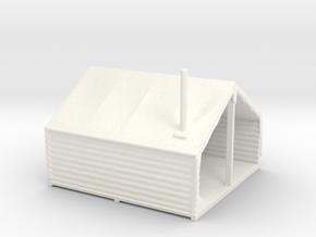 HO Scale Minner's Tent Cabin in White Processed Versatile Plastic