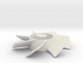 Extractor Fan in White Natural Versatile Plastic