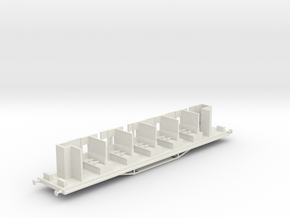 HAVC - Victorian Railwyas AV Car Chassis in White Natural Versatile Plastic