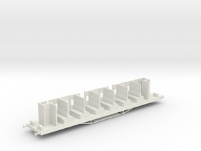 HBVC - Victorian Railways BV Carriage Chassis in White Natural Versatile Plastic