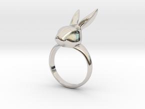 Rabbit ring in Platinum