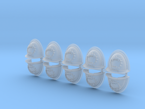 Eaters of Worlds Mk2 shoulder pads x10 in Smooth Fine Detail Plastic