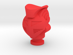 Micro Jeeg King Atlas Head in Red Processed Versatile Plastic