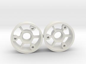 "2WD - Jantes ""No glue !"" - Offset 0 in White Natural Versatile Plastic"