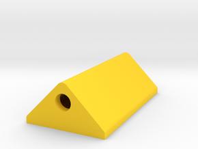 Wheel chock in Yellow Processed Versatile Plastic