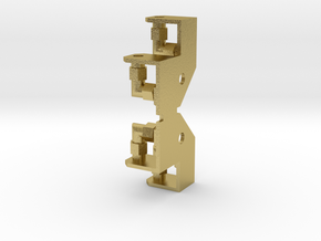 Hydraulikanschluss-Attrappe am Schild für Ohrenzyl in Natural Brass