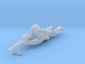 SWAT - Team - Sniper Prone - D in Smooth Fine Detail Plastic