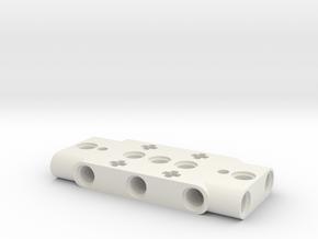 Sharp IR Sensor Mount for LEGO in White Natural Versatile Plastic